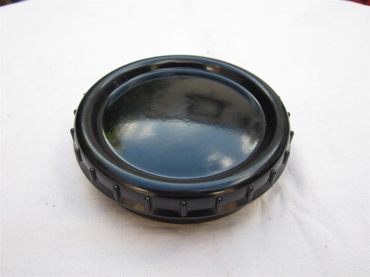 WW2 WH Black Bakelite Butterdish