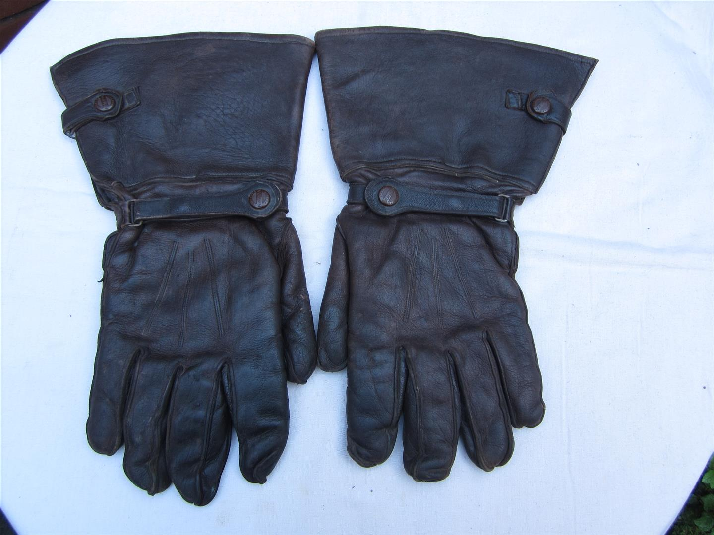 WW2 Luftwaffe Leather Flying Gloves