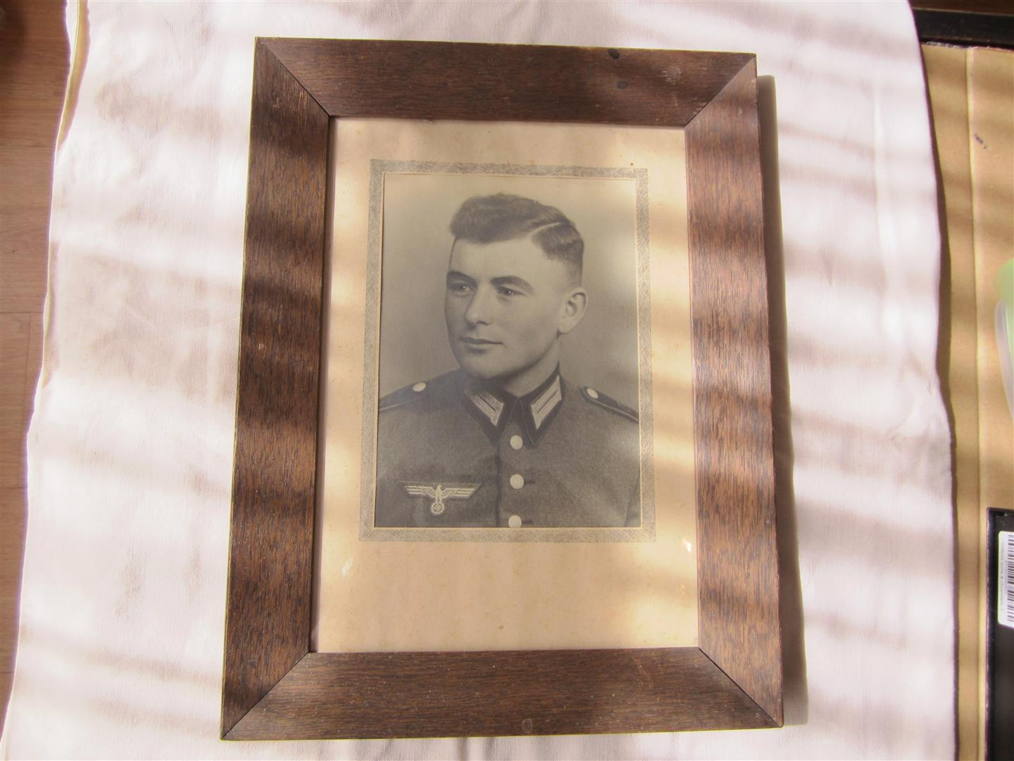 WW2 WH Photo of Soldier in Dress Uniform